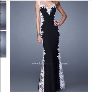 Black and white formal or prom dress